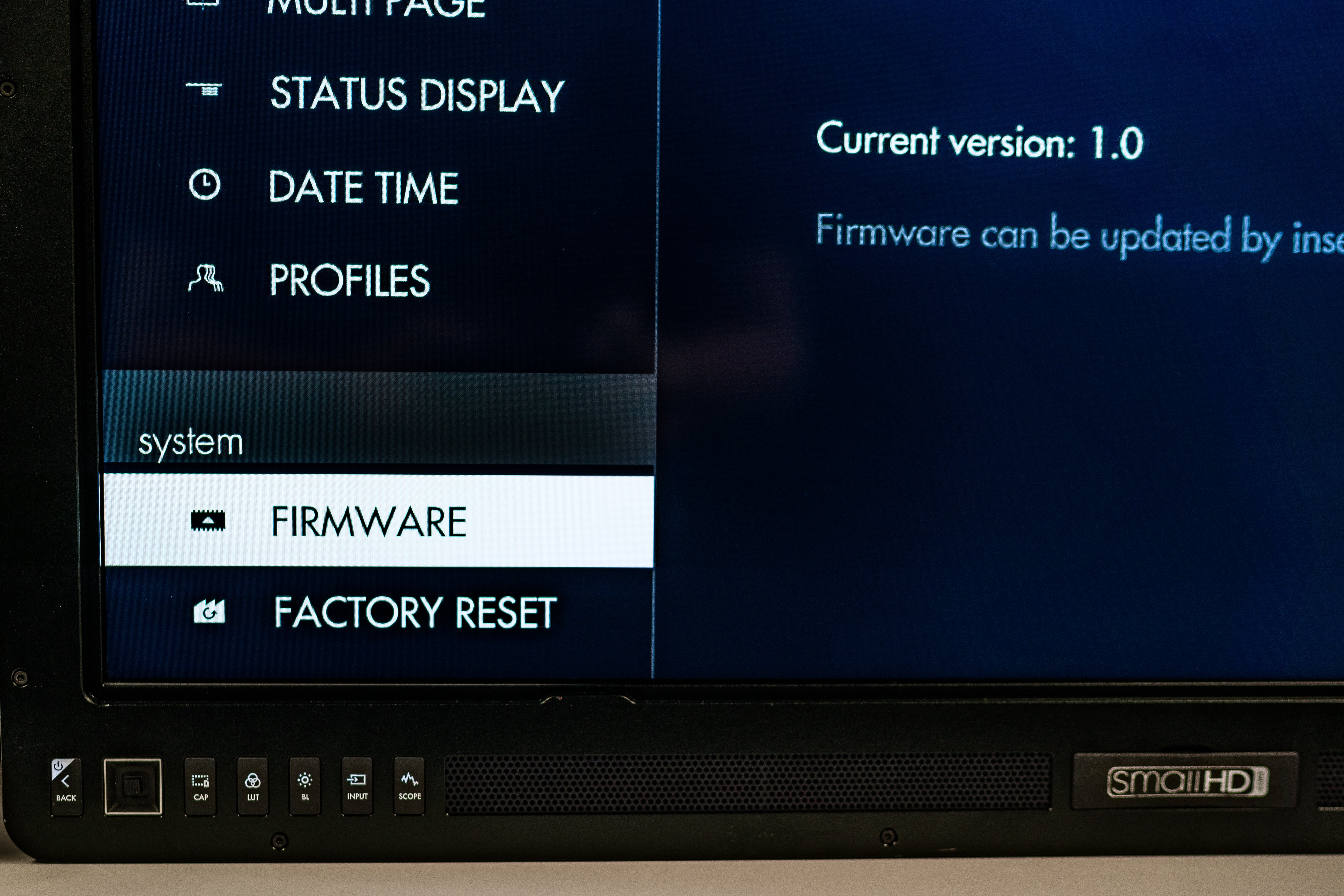 SHD_Firmware Screen_ProdMon