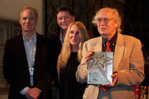 Storaro receives Cine Gear's Cinematography Lifetime Achievement Award. (right: Richard Crudo, ASC, Karl Kresser and Juliane Grosso of Cine Gear Expo, Vittorio Storaro, ASC, AIC