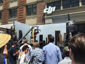 DJI's booth won Cine Gear's award for Best Outdoor Exhibit Design