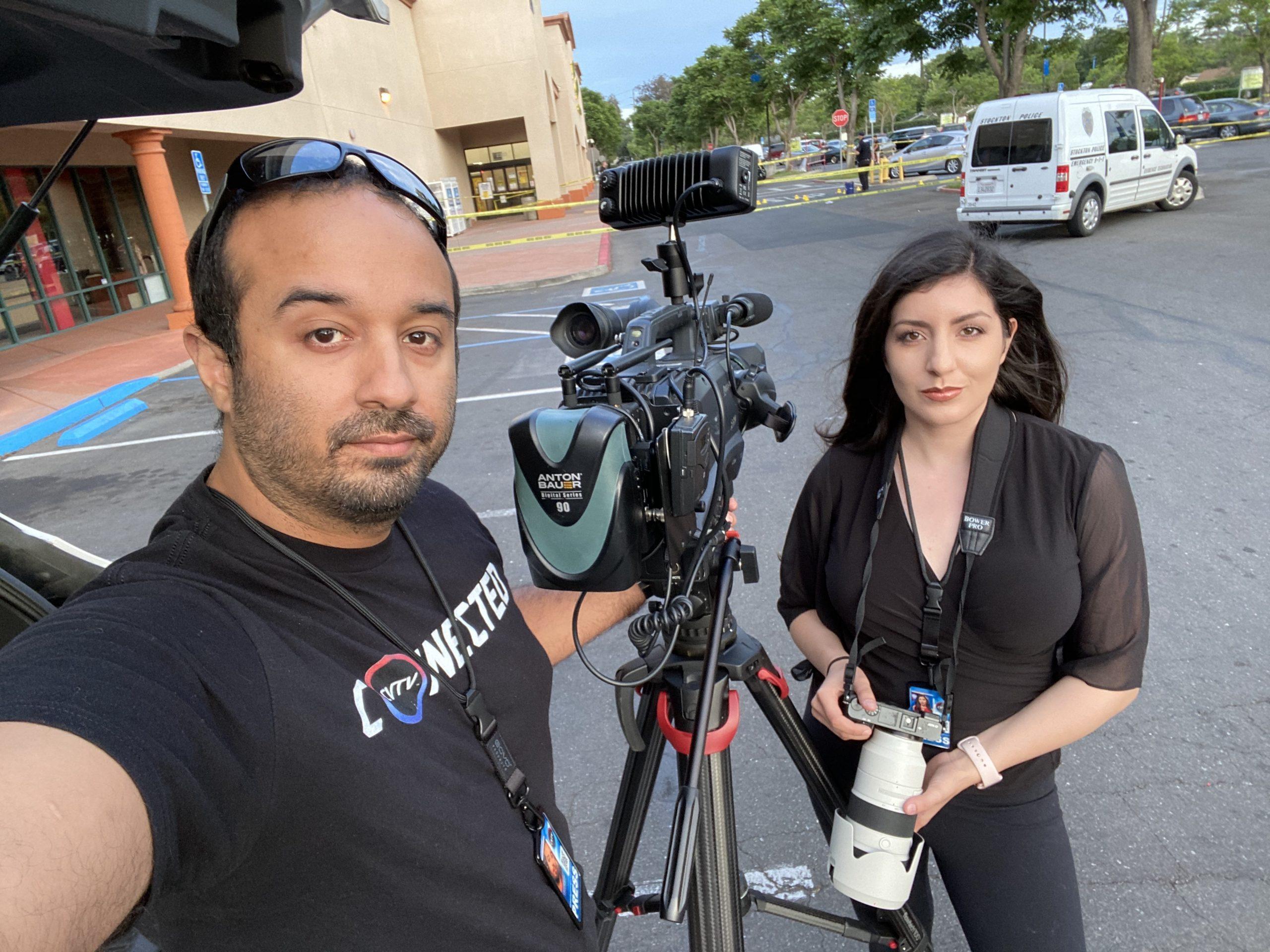 Carlos Rodriguez and his partner Gabby Muro