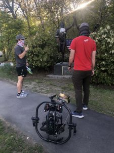 Will McAuliffe and Josh Mercado take a breather to check out the local Boston area runner's sights during video for Heartbreak Run.